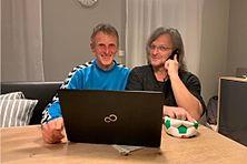 Im FuPa-Gespräch: Walter Zitzlsperger (links) und Robert Rothmeier.